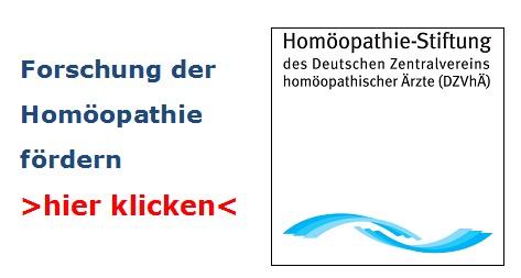 Förderung Forschung Homöopathie